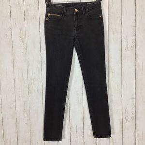 DL1961 Amanda Skinny Jeans Black Lax Wash Stretch
